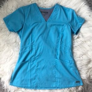 Grey's Anatomy Marquis Scrub Top Cool Water